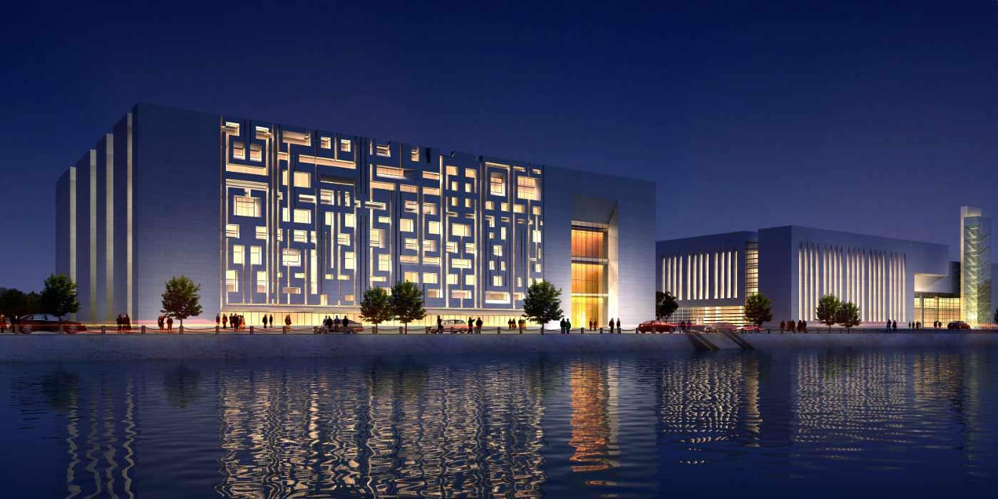 Concept render of DIGITAL Building for MAN REALTY