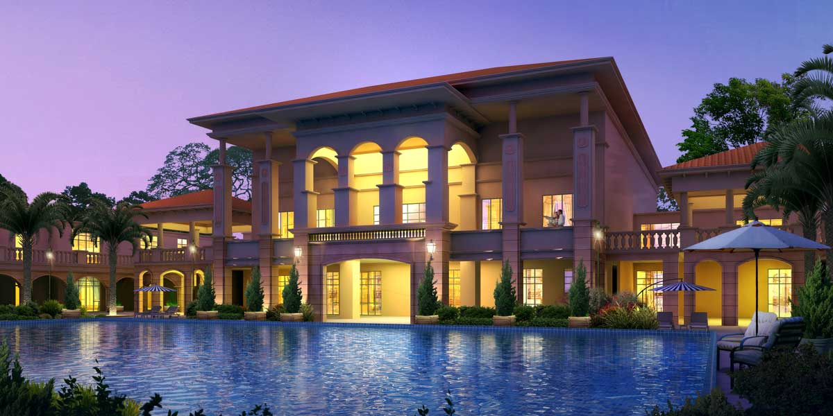 3D Render of an ultra luxury villa in Jumeirah