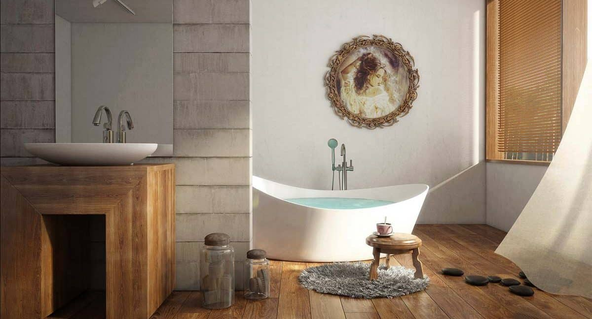 3d render of a contemporary bathroom with  MAAX